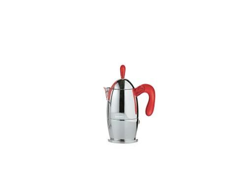 Guzzini caffettiera 6 Tazza Zaza rossa