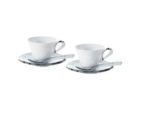 Guzzini Belle Epoque set 2 tazzine con piattino e cucchiaini