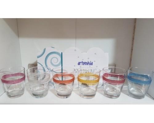 Set 6 Bicchieri  Artemisia Acqua Multicolor