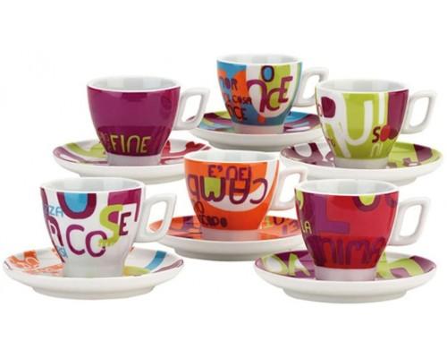 Andrea Fontebasso Tognana set 6 Tazzine Caffè con piatto