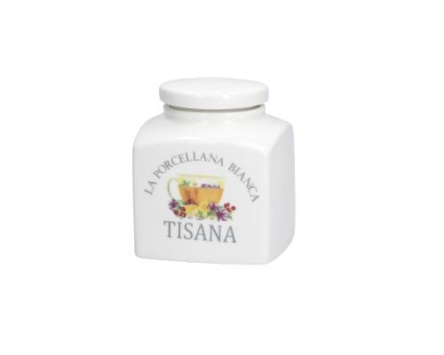 Barattolo Conserva  Tisana 500 cc La Porcellana Bianca