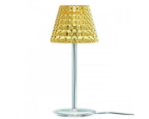 Guzzini lampada da tavolo Tiffany con filo con  paralume in metacrilato ambra